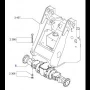 s76072941 Assale Anteriore per Fiat-Hitachi W130 (76072941)